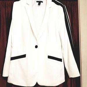 INC international white with black stripes jacket